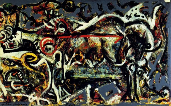 The She Wolf (1943) by Jackson Pollock.